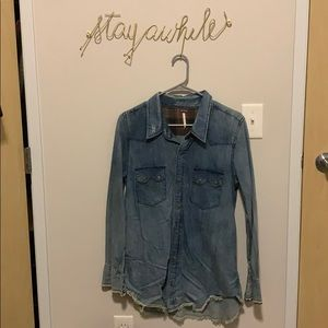Free People Denim Button Down